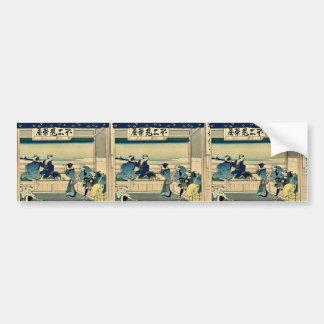 Tokaido Yoshida by Katsushika, Hokusai Ukiyoe Bumper Stickers