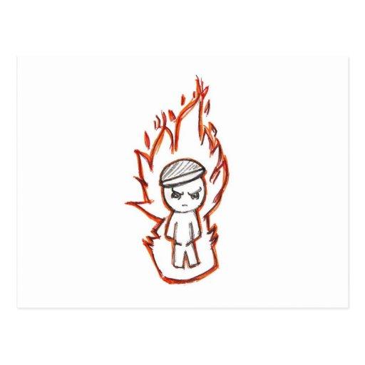 Toke Lurra/muchacho del fuego Tarjeta Postal