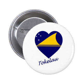 Tokelau Flag Heart Pinback Button