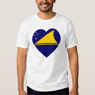 Tokelau Flag Heart T-shirt