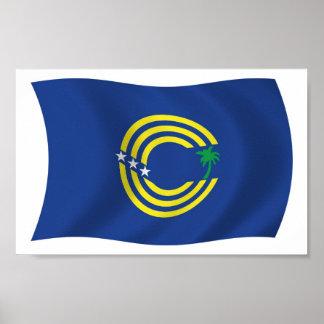 Tokelau Flag Poster Print