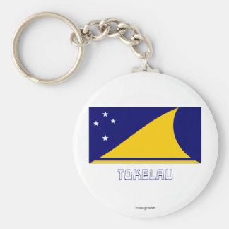 Tokelau Flag with Name Key Chain