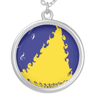 Tokelau Ganrly Flag Round Pendant Necklace