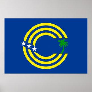 Tokelau, New Zealand flag Poster