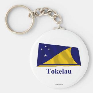 Tokelau Waving Flag with Name Key Chains