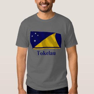 Tokelau Waving Flag with Name T-shirt