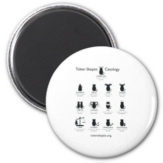 Token Skeptic Catology / Astrology 2 Inch Round Magnet