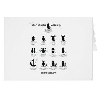 Token Skeptic Catology / Astrology Card