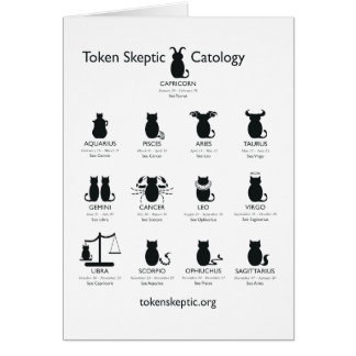 Token Skeptic Catology / Astrology Greeting Card
