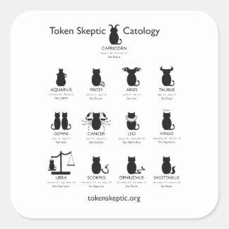 Token Skeptic Catology / Astrology Square Sticker