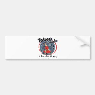 Token Skeptic Roller Derby Logo Bumper Sticker