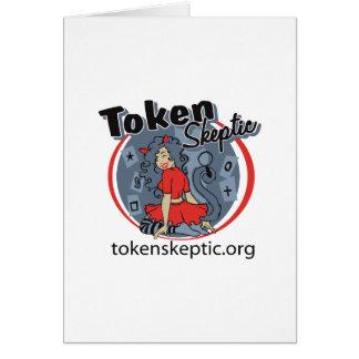 Token Skeptic Roller Derby Logo Cards