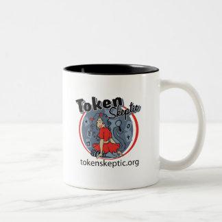 Token Skeptic Roller Derby Logo Coffee Mug