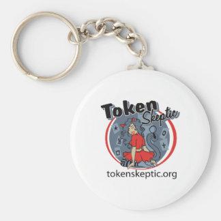 Token Skeptic Roller Derby Logo Keychains