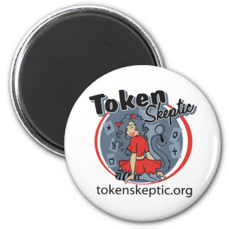 Token Skeptic Roller Derby Logo Refrigerator Magnet
