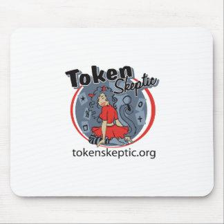 Token Skeptic Roller Derby Logo Mouse Pad