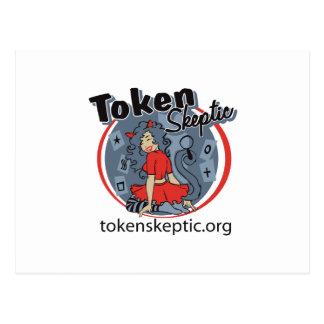 Token Skeptic Roller Derby Logo Postcards