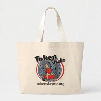 Token Skeptic Roller Derby Logo Tote Bags
