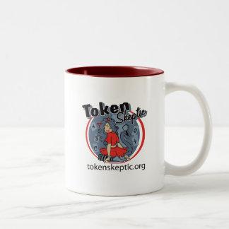 Token Skeptic Roller Derby Logo Two-Tone Mug