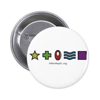 Token Skeptic Zener Logo 2 Inch Round Button