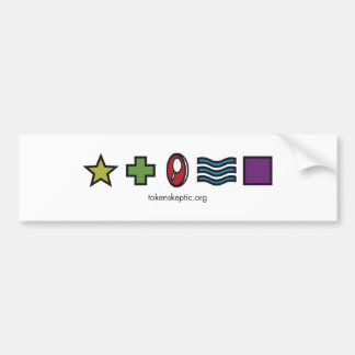 Token Skeptic Zener Logo Bumper Sticker