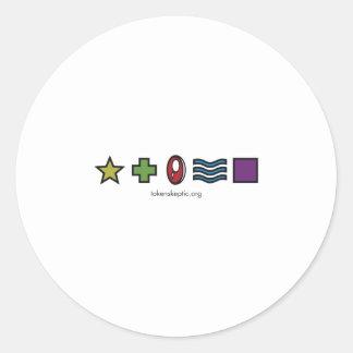 Token Skeptic Zener Logo Classic Round Sticker