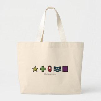 Token Skeptic Zener Logo Jumbo Tote Bag