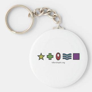 Token Skeptic Zener Logo Basic Round Button Keychain