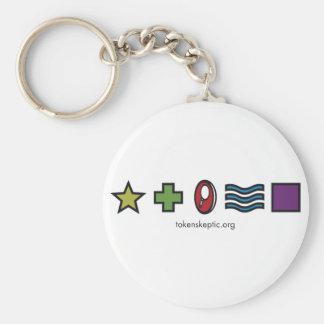 Token Skeptic Zener Logo Keychains