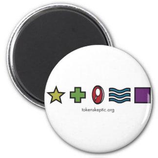 Token Skeptic Zener Logo Magnets
