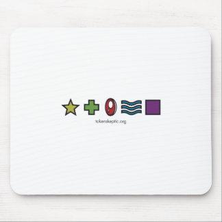 Token Skeptic Zener Logo Mouse Pad