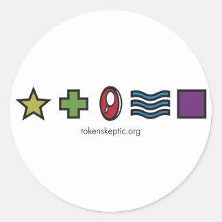 Token Skeptic Zener Logo Sticker
