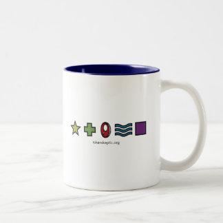Token Skeptic Zener Logo Two-Tone Mug