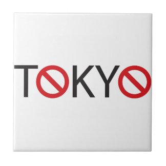 Tokio - camino cerrado para las muestras de los ve teja cerámica