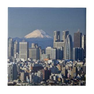 Tokio, horizonte del distrito de Shinjuku, el Azulejo Cuadrado Pequeño