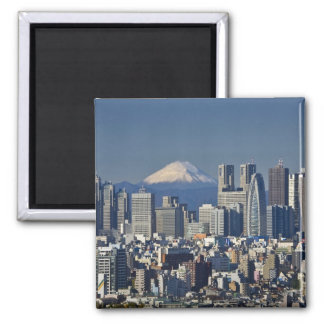 Tokio, horizonte del distrito de Shinjuku, el mont Imán Para Frigorifico