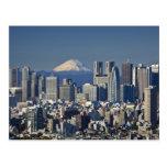 Tokio, horizonte del distrito de Shinjuku, el mont Tarjetas Postales