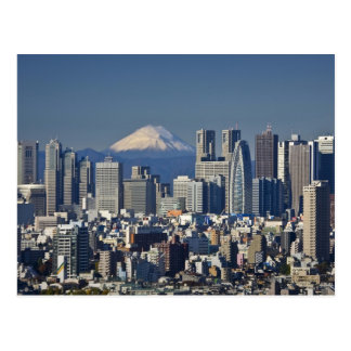 Tokio horizonte del distrito de Shinjuku el mont Tarjetas Postales
