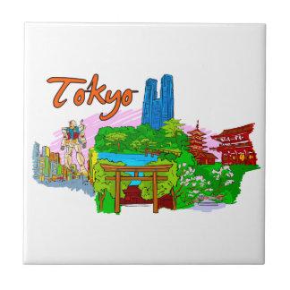 Tokio - Japan.png Azulejo Cuadrado Pequeño