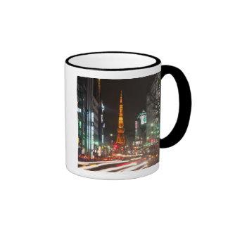 Tokio Japón La torre de Tokio es las comunicacio Taza De Café