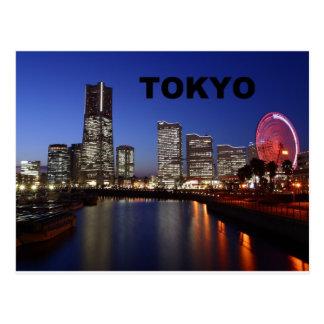 Tokio Japón por la noche (St.K) Tarjeta Postal