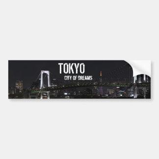Tokio por noche pegatina para auto