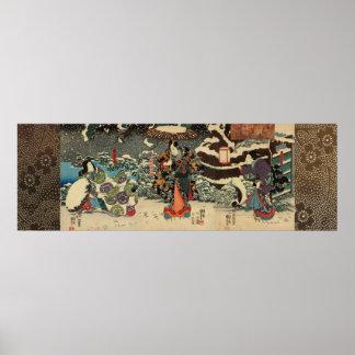 Tokiwa-gozen Utagawa Kuniyoshi Poster