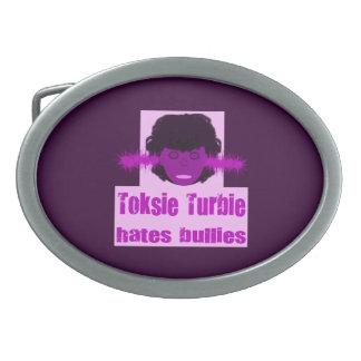Toksie Turbie Hates Bullies Oval Belt Buckle