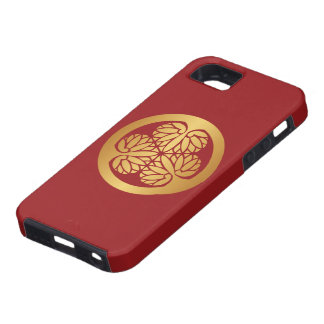 Tokugawa Aoi Japanese Mon Family Crest Gold on Red iPhone 5 Case