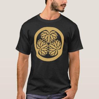 Tokugawa Aoi Japanese Mon Family Crest Sand T-Shirt
