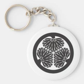 Tokugawa_family_crest Basic Round Button Keychain