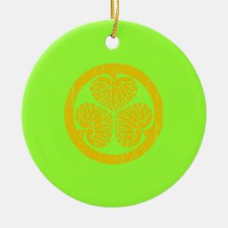 Tokugawa gold crest distressed ornament