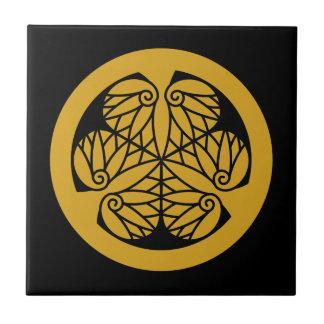 Tokugawa hollyhock(13)EDO Ceramic Tile
