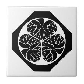 Tokugawa mallow (12 generations house celebration  ceramic tile